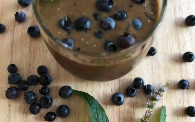 Blueberry Chocolate Green Smoothie