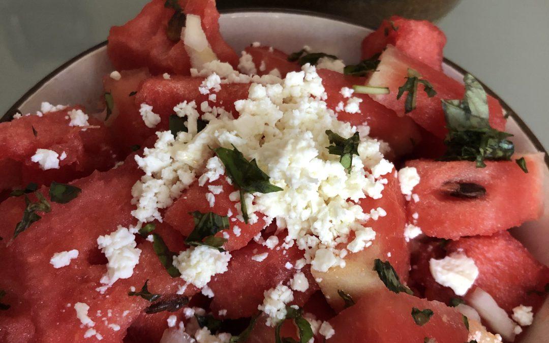 Refreshing Watermelon Basil Salad